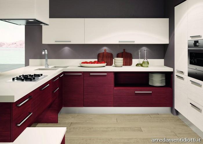 Cucina living legno spazzolato diotti a f arredamenti - Cucine legno moderne ...