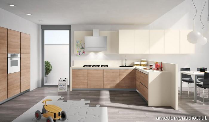 Cucina Easy 13 in polimerico con gola curva - DIOTTI A&F ...