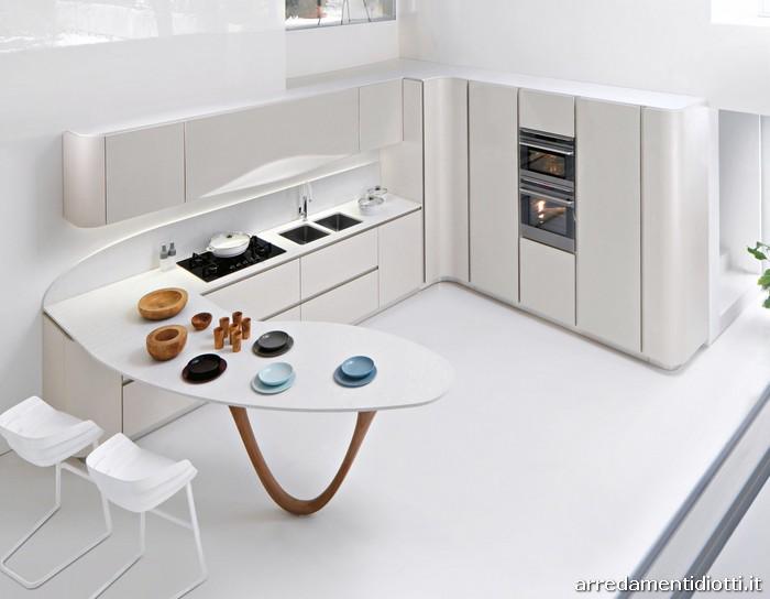 Cucina ola 20 di snaidero cucine con design pininfarina for Piccola cucina a concetto aperto