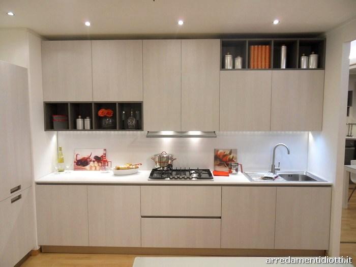 Cucina Grafica moderna e lineare con pensili a giorno - DIOTTI A&F ...