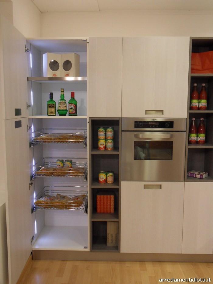 Colonne cucina colonne con anta a battente e vani a - Cucina attrezzata ...
