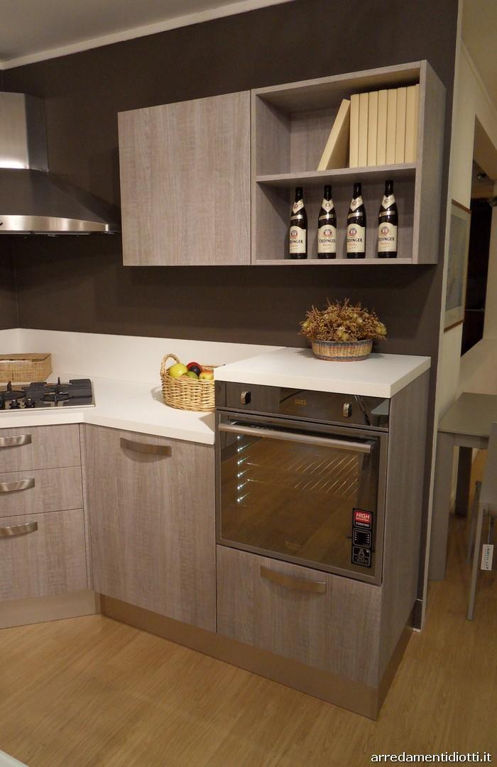 Cucina moderna angolare grafica tranch ghiro diotti a f - Cucine con forno alto ...