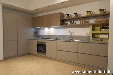Cucina moderna laccata con gola curva diotti a f arredamenti - Cartongesso per cucine moderne ...