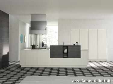 Cucina moderna con maniglia pantografata smile diotti a f arredamenti - Cucine eleganti moderne ...
