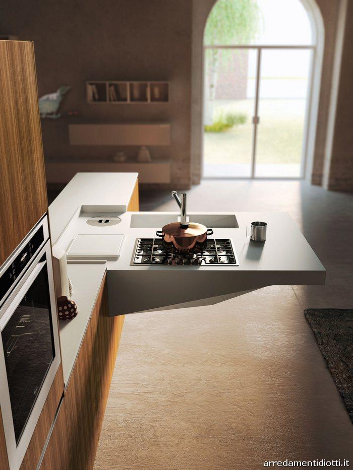 Cucina con piano lavoro a sbalzo board diotti a f for Arosio arredamenti