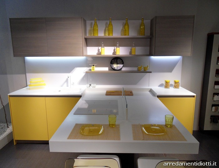 Beautiful Cucine Moderne Gialle Pictures - ubiquitousforeigner.us ...
