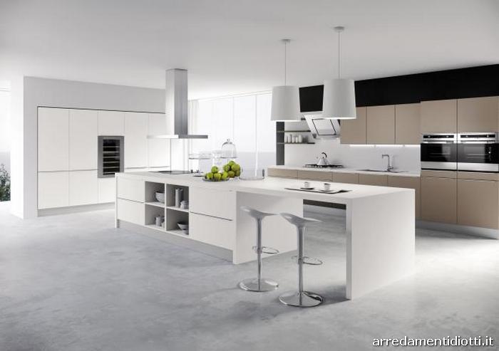 Cucina moderna abaco di snaidero diotti a f arredamenti - Cucina bianca e marrone ...