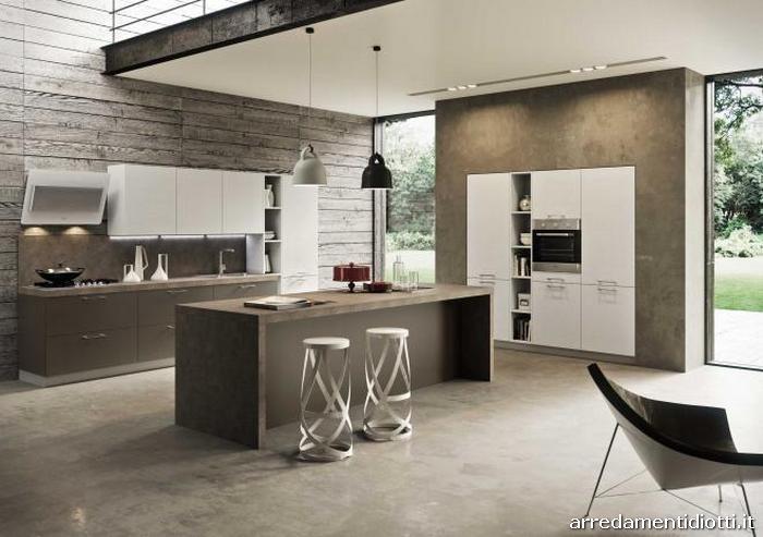Cucina marrone e bianca la scelta giusta variata sul - Colori adatti alla cucina ...