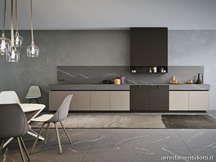 Cucina a22 con anta in fenix e impiallacciato diotti a f arredamenti - Cucine eleganti moderne ...