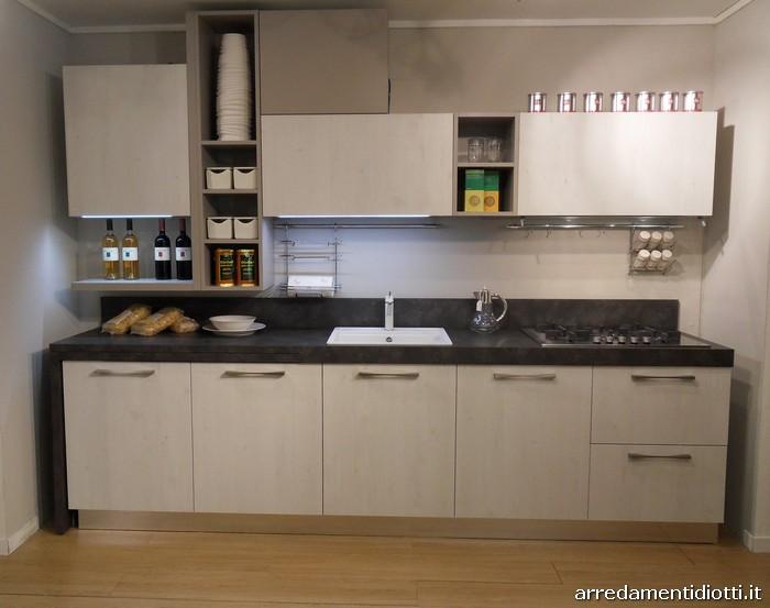 Cucine Moderne Con Mensole.Cucina Spring Con Tavolo Girevole Diotti A F Arredamenti