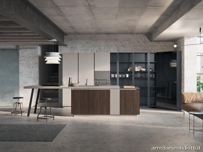 cucine mercatone uno stile urban : Ante in melaminico Rovere Torchiato e Moon.Top laminato Moon sp.6cm. e ...
