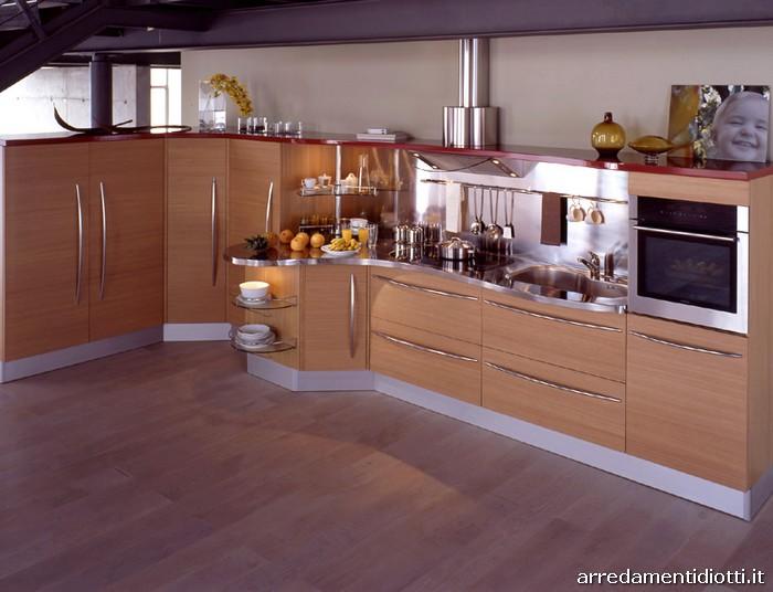 cucina componibile con top curvo skyline  diotti af arredamenti, Disegni interni