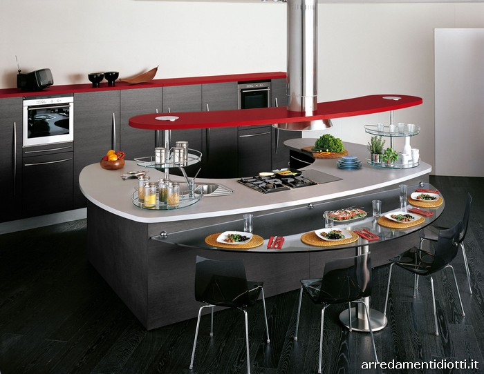 Cucina componibile con top curvo Skyline - DIOTTI A&F Arredamenti