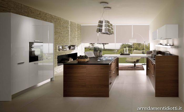 Cucine Moderne In Legno Chiaro: Cucine moderne effetto legno in con isola.