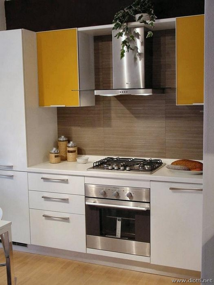 Mobili Cucina Giallo.Dream Cucina In Laminato Bianco Lucido Diotti A F Arredamenti