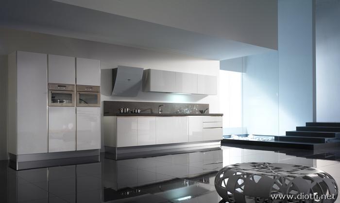 Colore parete cucina bianca consigli per la casa e lu - Cucine moderne a parete ...