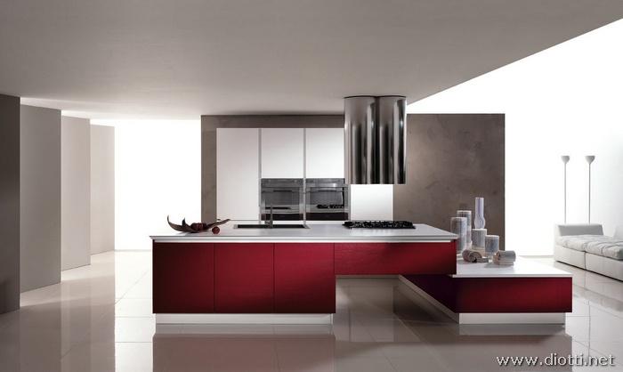 Cucine moderne cucine moderne bianche e rosse cucine rosse - Cucine bicolore moderne ...