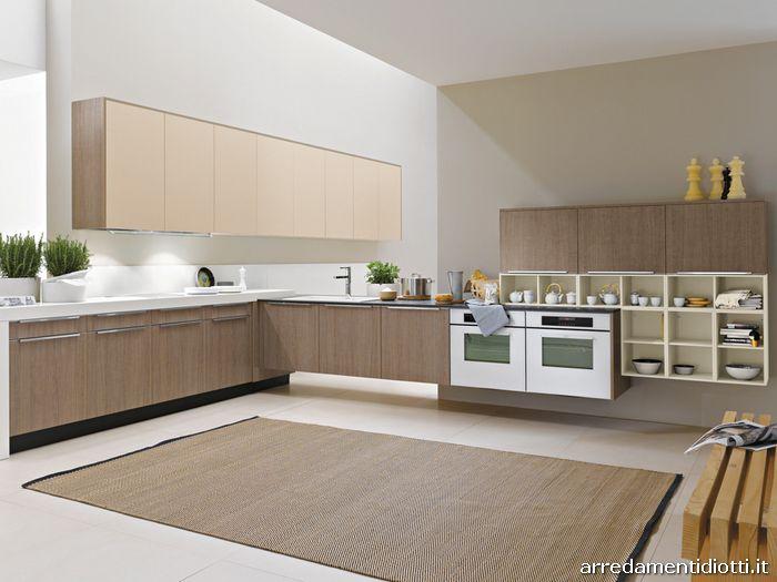 Cucina dream in laminato bordo abs diotti a f arredamenti for Cucina moderna marrone