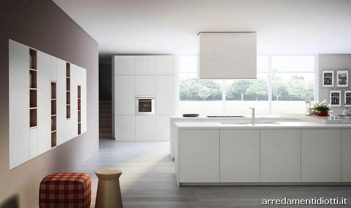 Cucina moderna con gola o maniglia grafica diotti a f - Cucine valdesign ...
