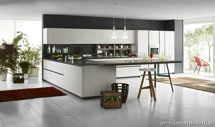 cucina moderna con gola o maniglia grafica diotti a f arredamenti. Black Bedroom Furniture Sets. Home Design Ideas