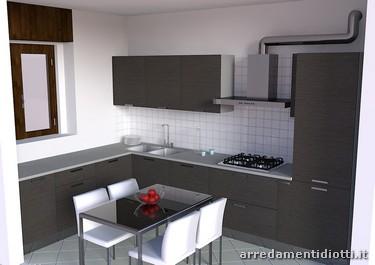 Progettazione di un arredamento a monza diotti a f arredamenti - Cucina con cappa a vista ...