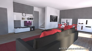 Planning of a living room - DIOTTI A&F Italian Furniture and ...
