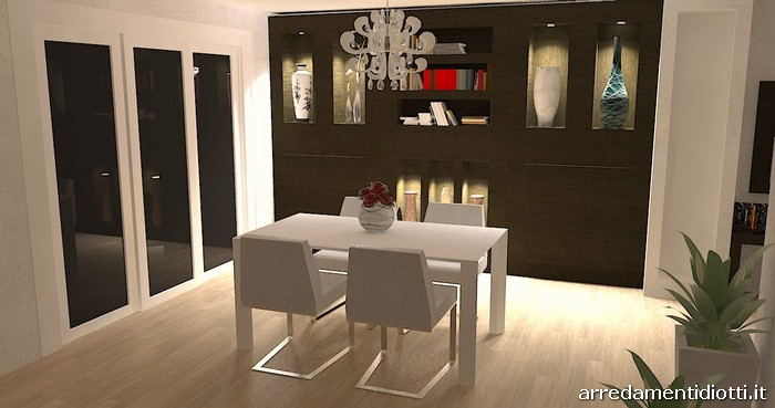 3d interior design for a living room in bergamo - diotti a&f ... - Design Soggiorno Moderno 2