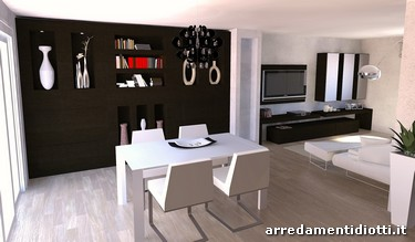 3D interior design for a living room in Bergamo - DIOTTI A&F ...