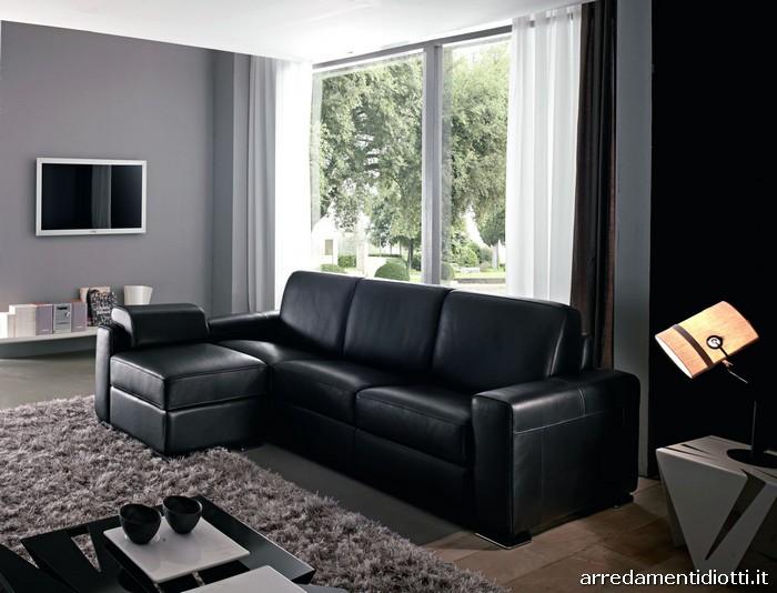 Divano pelle nera idee per il design della casa for Copridivano chaise longue mondo convenienza