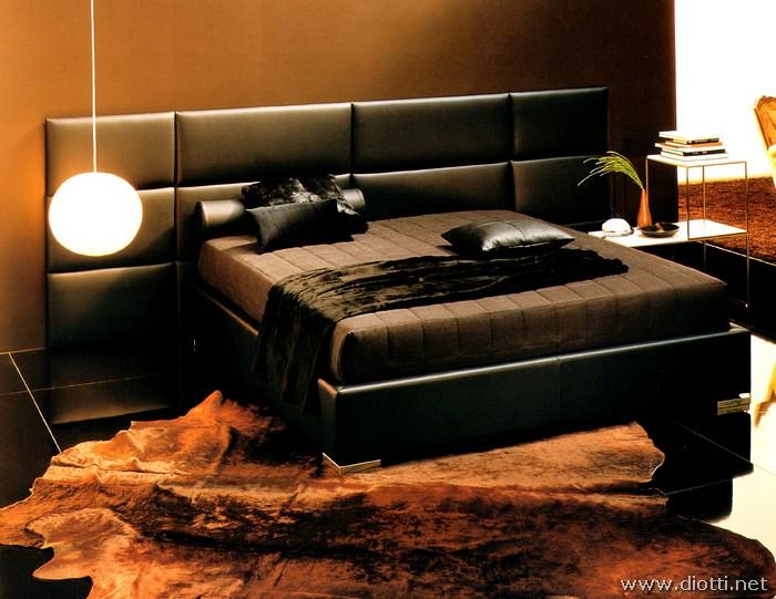 Boiserie imbottita marlene in pelle e tessuto diotti a f - Camere da letto in pelle ...