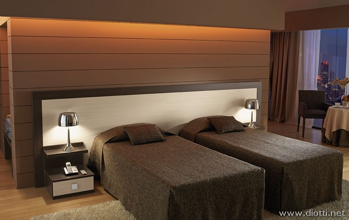 Camera per hotel in rovere diotti a f arredamenti - Camera da letto rovere ...