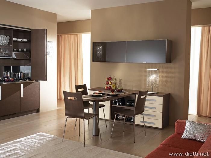 cucine soggiorno unico ambiente piccolo idee per il