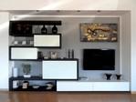 Creative Side soggiorno ante scorrevoli laccato nero