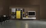 Creative side parete attrezzata componibile porta tv orientabile rack