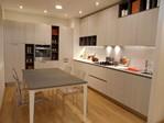 Grafica cucina moderna laminato rovere perla tavolo Jag