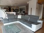 M Sofa divano pelle Bianca microfibra Grigia con riproduttore musicale