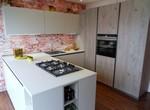 Play Lab cucina con penisola finitura Fieno e Corda opaco