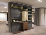 Rebel System cabina armadio con cassettiera e vassoi porta abiti