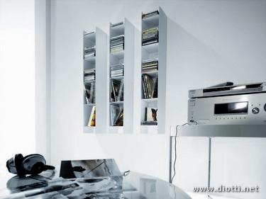 Porta libri press e porta cd sound diotti a f arredamenti - Mobili porta dvd ...