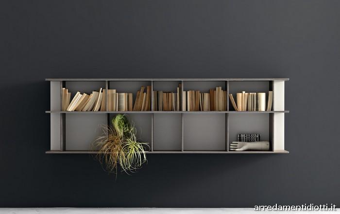 Librerie pensili e componibili di diversa grandezza con for Librerie pensili componibili
