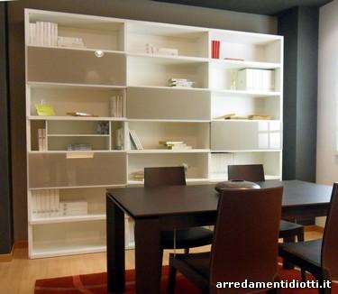 Libreria con ante in vetro - DIOTTI A&F Arredamenti