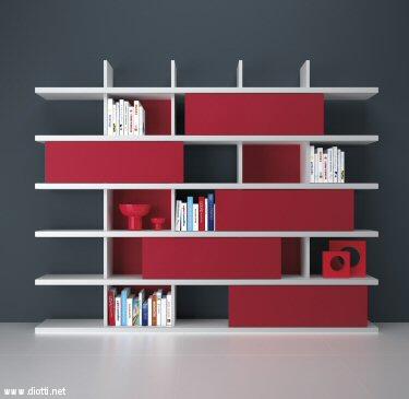 Young libreria diotti a f arredamenti - Libreria con ante ikea ...