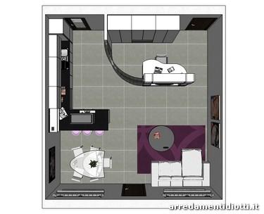 Cucina horizon laccata bianco lucido diotti a f arredamenti for Piante arredamento moderno