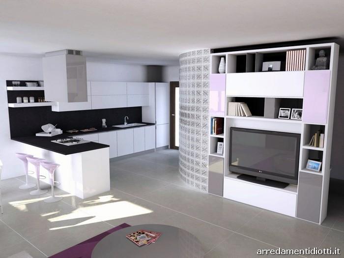 Open Space Cucina Soggiorno Moderno. Top Esempio Cucina Moderna E ...