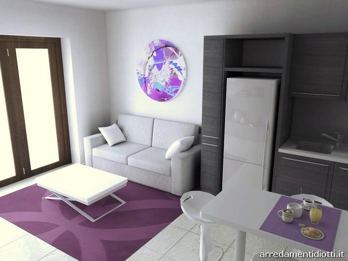 Salotto Open Space Con Parquet E Divani Bianchi Interior Design ~ Trova le Mi...
