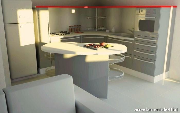 Cucina Skyline e soggiorno Stone in pietra - DIOTTI A&F Arredamenti