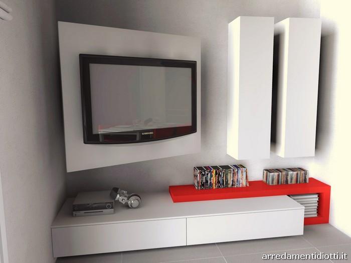 Cucina skyline e soggiorno link con porta tv diotti a f - Mobile soggiorno angolo ...