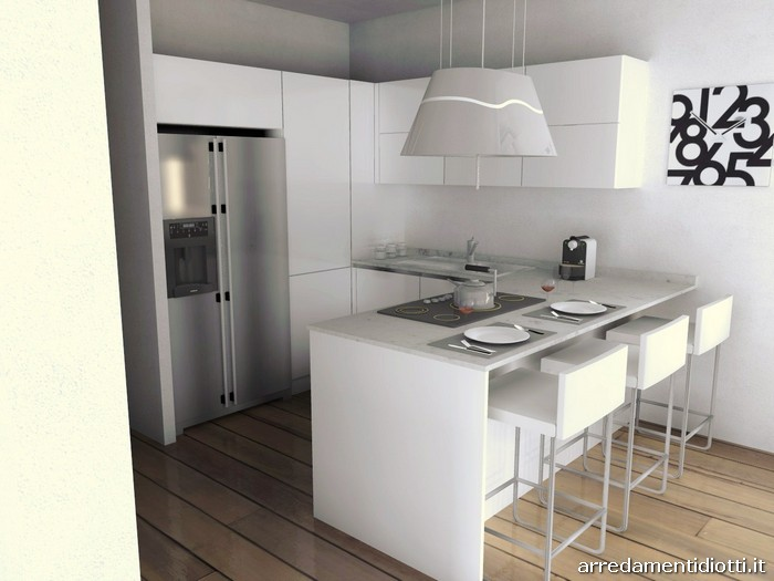 Cucina horizon lucida soggiorno link diotti a f arredamenti - Open space cucina salotto ...