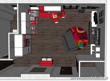 Cucina Grafica e soggiorno Day - DIOTTI A&F Arredamenti