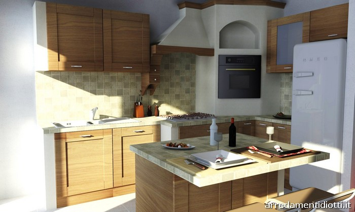 Cucina soggiorno open space rustico idee per il design - Open space cucina soggiorno classico ...